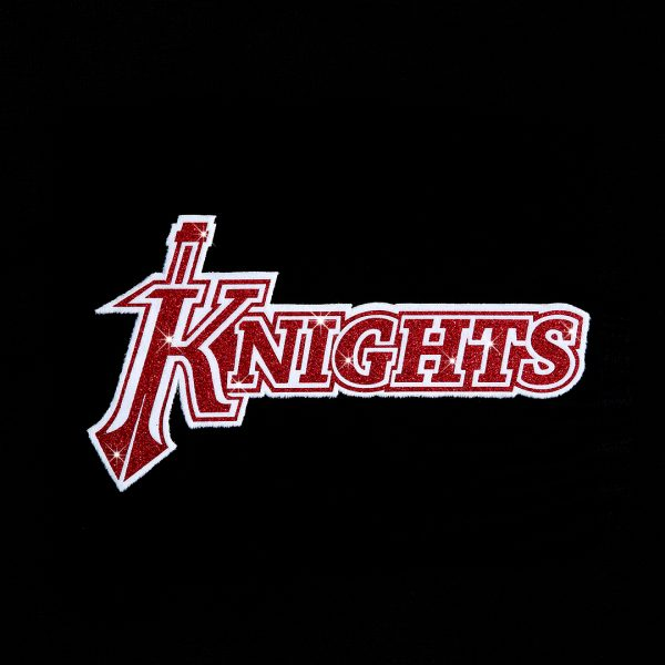The Knights Heat Transfer created by Hot Fix Flock and Hot Fix Glitter