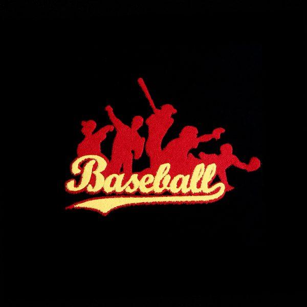 Baseball Heat Fix Motifs created with Hot Fix Flock
